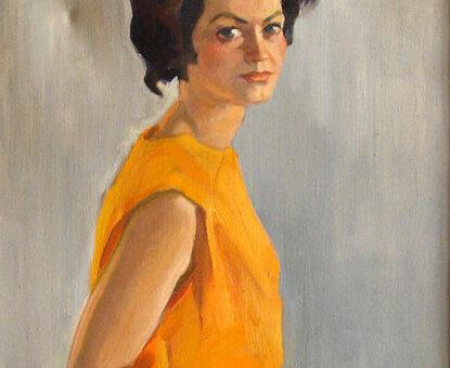 Ananije-Verbicki-Portret-Lidije-budeč-ulje-na-platnu