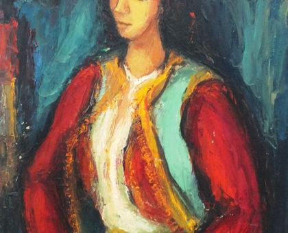 Zora-Popović-Portret-Crnogorkeulje-na-platnu-1